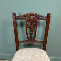 Set of Six Edwardian Walnut Antique Dining Chairs (8 of 8)