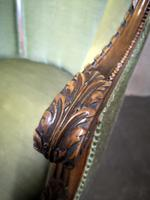 Carved Walnut French Armchair (10 of 11)