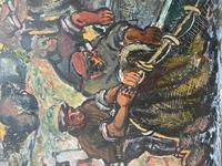 Expressionist Scottish Oil Painting Fishermen Hauling The Nets by Archibald Peddie Glasgow School of Art (10 of 37)