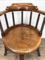 Antique Captain Style Elm Armchair (3 of 12)