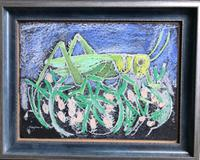 Original mixed media painting 'Grasshopper' by Toby Horne Shepherd 1909-1993. Signed c.1960 (2 of 2)