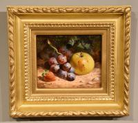 """Oil Painting Pair by William Hughes """"White Grapes"""" & """"Black Grapes"""" (3 of 5)"""