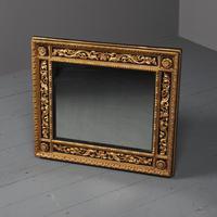 Antique Gilded & Ebonised Rectangular Wall Mirror (11 of 14)