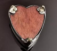 Antique Heart Shaped Silver Jewellery Box, Art Nouveau, William Comyns (13 of 15)