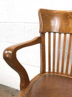 Early 20th Century Antique Swivel Desk Chair (4 of 10)