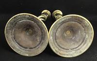 Pair of Victorian Brass Barley Twist Candlesticks (3 of 4)