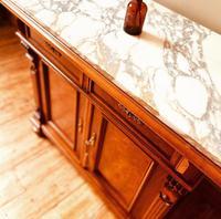 Antique Sideboard / Burr Walnut Sideboard / Walnut Cupboard (6 of 10)