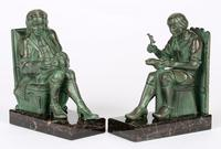 Max Le Verrier Pair Art Deco Patinated Bronze The Cobbler & The Financier Bookends (10 of 18)