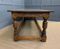 Large Oak Jacobean Revival Refectory Table (4 of 12)
