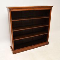 Antique  Victorian  Walnut Open Bookcase (11 of 12)