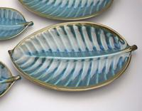 A Retro Set 4X Novelty Studio Pottery Leaf Plates Surrey Ceramics 1960's (5 of 11)
