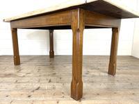 Antique Oak Scrub Top Kitchen Table (5 of 11)