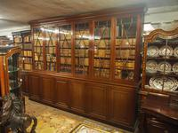 Large George III Style Mahogany 6 Door Cabinet Bookcase (17 of 17)
