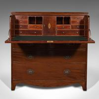 Antique Secretaire Cabinet, English, Chest of Drawers, Bureau, Desk, Georgian (4 of 12)