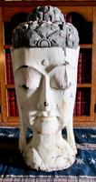 Large Asian Hand Carved Painted  Buddha Head (2 of 10)