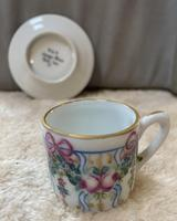 Limoges Hand Painted Miniature Cup and Saucer (2 of 6)