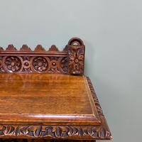 Stunning Carved Oak Victorian Antique Hall Table (2 of 8)