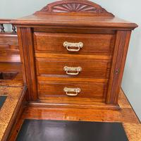 High Quality Maple & Co Antique Victorian Pedestal Desk (4 of 11)