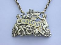 "George III Cast Silver Gilt ""Two Putti"" Wine Label 'Madeira' (5 of 10)"