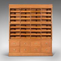 Very Large Antique Haberdashery Cabinet, Oak, Collector, Shop, Rack, Edwardian (2 of 12)