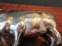 Large Antique Solid Silver Pig Pin Cushion (5 of 8)