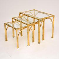 Vintage Brass Faux Bamboo Nest of Tables (2 of 9)