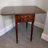 Victorian Mahogany Drop Flap Work Table (5 of 18)