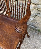 Unusual Oak Arts & Crafts Bench (3 of 18)