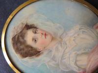 Wedding Day Miniature Portrait Edwardian Bride 1910 (3 of 5)