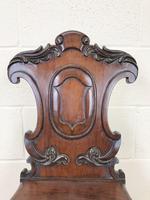 19th Century Mahogany Hall Chair (m-1533b) (3 of 8)