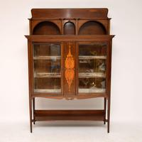 Antique Art Nouveau Inlaid Mahogany Cabinet Liberty of London (5 of 11)