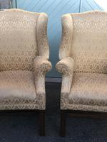 Pair of Antique English Upholstered Wing Armchairs for Recovering (2 of 12)