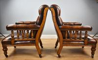 Pair of Victorian Hand Dyed Leather Library Chairs (10 of 13)