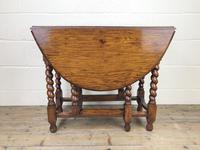 Early 20th Century Antique Oak Gateleg Table (4 of 8)