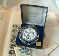 Vintage Pocket Watch 1970s Railroad 9ct White Gold Plated Swiss & West Germany Nos (4 of 12)