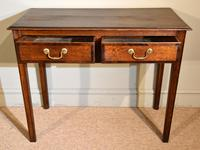 18th Century Oak Two Drawer Side Table (2 of 4)