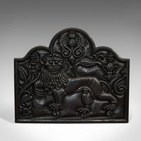 Antique Fireback, English, Cast Iron, Decorative Fireplace, Victorian c.1900 (5 of 8)