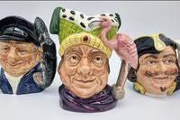 Four Small Royal Doulton Toby Jugs (2 of 16)