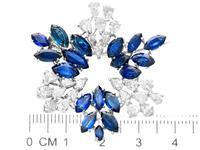 7.95ct Sapphire & 4.75ct Diamond, Platinum Pendant / Brooch - Vintage c.1960 (7 of 9)