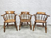 6 Smoker's Bow Armchairs - 19th Century (6 of 6)