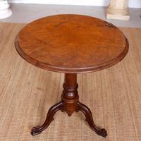 Georgian Walnut Oak Tripod Lamp Table (4 of 10)