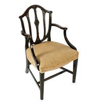 Pair of Hepplewhite Style Elbow Chairs (3 of 8)