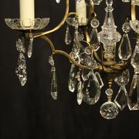 French Gilded 4 Light Cage Antique Chandelier (9 of 10)