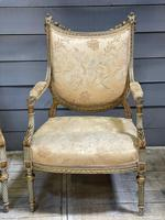 Super Pair of French Upholstered Armchairs (3 of 26)