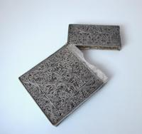 Fine Continental silver filigree card case c 1890 (2 of 12)