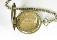 1940s Doxa Pocket Watch, Chain & Compass Fob (3 of 5)