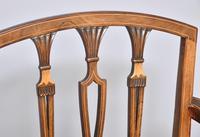 Pair of Inlaid Mahogany Georgian Hepplewhite Armchairs (2 of 7)