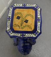 Colourful North African Terracotta Elephant Statue Seat (8 of 10)