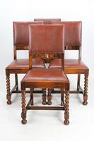 Set of 4 1920s Oak Dining Chairs (11 of 13)
