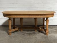 Huge Bleached Oak French Extending Dining Table (10 of 24)